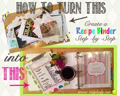 How to Set Up and Organize a Recipe Binder | Tidy Lady Printables.  Awesome Ideas!  #recipebinder #mealplanning #printables #organizing
