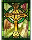 Celtic Cross in lead came by Diane McLauchlan/Oakhill Glass.