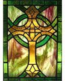 Celtic Cross in lead came by Diane McLauchlan/Oakhill Glass.