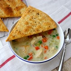 Chicken Pot Pie Soup is warm and cozy for these cold winter nights!