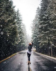Dancing under the snow in the Cascades.  #voyageursdumonde by djisupertramp