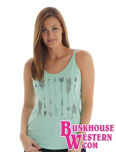 Cowgirl Tuff Jeans, Rodeo Shirts, Online Discount, Work Attire, Mint Green, Fashion Outfits, Western Style, Tank Tops, Arrows
