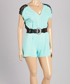 Another great find on #zulily! Mint Lace Romper - Plus #zulilyfinds