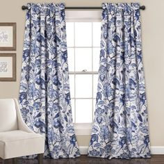 Shop for Lush Decor Cynthia Jacobean Floral Room-darkening Curtain Panel Pair. Get free delivery at Overstock - Your Online Home Decor Outlet Store! Get 5% in rewards with Club O! - 19235932