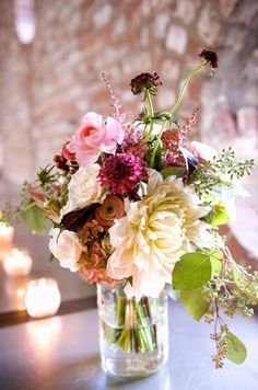 mason jar flower arrangements - Google Search