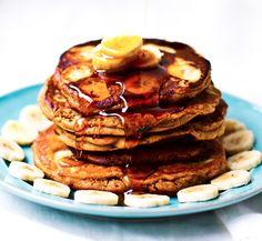 Peanut Butter Banana Oat Pancakes