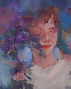 Art Journal Inspiration, Art Inspo, Pretty Art, Cute Art, Oil Pastel Art, Jungkook Fanart, Bts Funny Videos, Aesthetic Painting, Anime Princess