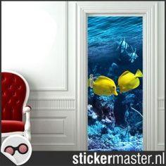 Deursticker yellow vissen