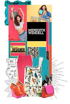 """""""Color Theory with Meredith Wendell."""" by milla-starinac ❤ liked on Polyvore"""
