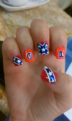 7e5e30170106d3330ee381f94f0d0a6ag 736774 nails ideas my confederatedukes of hazzard nails from a few months ago had to share prinsesfo Gallery