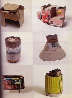 Maquettes van karton.