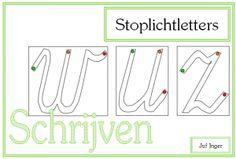 Stoplichtletters - Juf Inger School Teacher, Primary School, Nice Handwriting, Writing Skills, Grade 1, Fun Learning, Teacher Gifts, Spelling, Encouragement