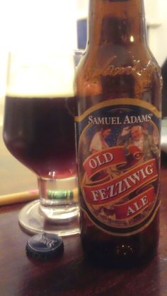 23) Samuel Adams Old Fezziwig Ale 4.11/5.0  Nose features raisin fruity sweetness, chocolate malt, cinnamon, ginger, and faint orange zest in the background.  Taste features chocolate malt, caramel sweetness, raisins, with a nice roasted character in the middle of the sip and ends with a nice cinnamon, ginger spicy pop.  Smooth, medium bodied brew with a nice warming effect. Lots of dynamic flavors going on with this offering with nothing over powering the other. A great winter warmer…