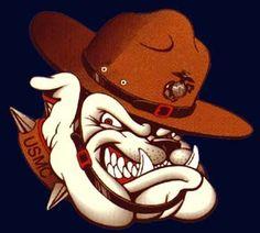 Usmc Marine Bulldog Cartoon Logo https://www.instagram.com/coolbulldog
