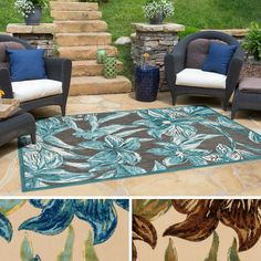 Teal And Brown 3x5 - 4x6 Rugs: Decorate your room with the perfect small rug. Free Shipping on orders over $45!