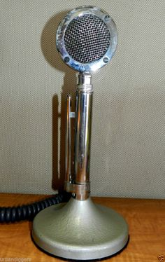 4264/ ASTATIC D-104  LOLLYPOP DESK MICROPHONE CB ~ HAM RADIO