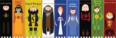 Printable bookmarks Game of thrones