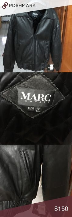 NWT Men's Marc New York Leather Jacket M Brand New with Tag. Marc New York black leather jacket. An Andrew Marc product. Andrew Marc Jackets & Coats
