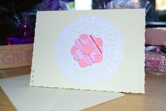 Plain Cream Flower Card, £2.15