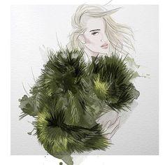 Monica Ruf #fashion #illustration