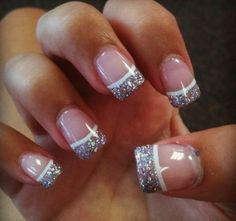 Purple nail tips and also nail designs for 2015 15 winter gel nail art designs ideas trends Acrylic Nail Designs Glitter, Glitter Tip Nails, Glitter French Manicure, Gel Nail Art Designs, Nails Design, French Manicures, Gel Vs Acrylic Nails, Glitter Art, Gel French Tip Nails