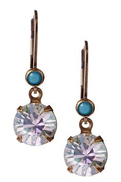 Swarovski Crystal Small Round Drop Earrings