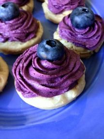 Flourless Lemon Cookies with Blueberry Whipped Cream 8