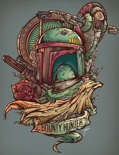 Bounty Hunter Project || Love the textured feel :) tatuajes | Spanish tatuajes |tatuajes para mujeres | tatuajes para hombres | diseños de tatuajes http://amzn.to/28PQlav