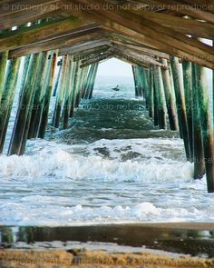 North Carolina - under the peir..many fond memories of beach trips as a kid and my mama would sit under the peir so she wouldn't get sunburned and we'd eat our lunch under the peir.