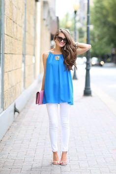 Electric Blue...I LOVE THIS TOP!
