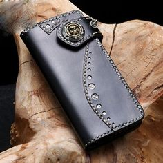 Overview: Design: Handmade Leather Mens Chain Biker Wallet Cool Leather Wallet Small Wallets for MenIn Stock: Ready to Ship (2-4 days)Include: Only WalletCusto