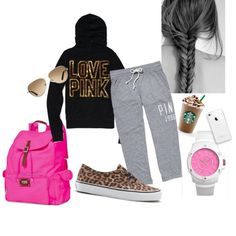 perfect comfy day outfit for school!