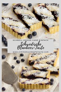 Swedish blueberry tart at Midsommar- Schwedische Blaubeer-Tarte zu Midsommar Delicious recipe for an easy and quick tart … - Blueberry Recipes, Apple Recipes, Snack Recipes, Quiche, Pumpkin Spice Cupcakes, Summer Desserts, Ice Cream Recipes, Cupcake Recipes, Bakery