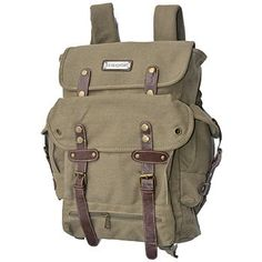 WWII Backpack Vintage Style Heavy Duty Canvas Duffel Bag