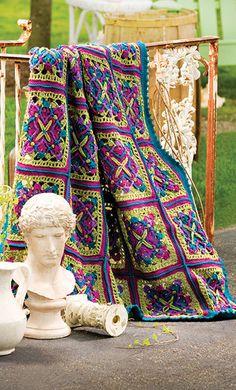 Free Joyous Squares Crochet Blanket Pattern