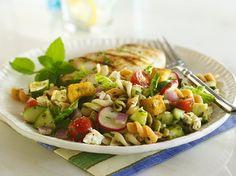 Fattoush Pasta Salad -  http://www.bettycrocker.com/recipes/fattoush-pasta-salad/2e535c0b-d1d2-4bfb-b3f4-d5f9d7991226?nicam4=SocialMedia=Facebook=BettyCrocker=Post=1