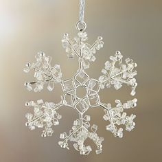 Mini Bead Snowflake With Open Ends Ornament  | Crate and Barrel