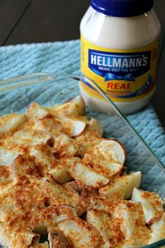 We always have too many potatoes for the pot at Thanksgiving! We just use a little Hellmann's Mayonnaise to turn them into Creamy Parmesan Potatoes, yum! And enter to win a $25 Safeway Giftcard! #bestovers #spon