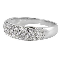 $29.99 Delivered. Stunning Womens CZ Ring .925 Sterling Silver Cubic Zirconia Band 6mm Wide. If you are looking for a great selection of sterling silver jewelry - at very affordable prices check out www.jewelryland.com. If you like this high quality cz ring please feel free to re-pin, like or leave a comment.