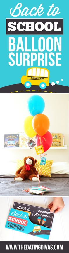 Back to School Balloon Surprise Idea to make returning to the classroom tons of fun!!