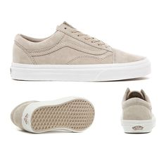 vans old school daim beige
