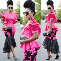These Sexy Ladies Strutted Their Stuff In The Best Latest Asoebi Styles African Wear, African Attire, African Women, African Dress, African Outfits, Tea Length Skirt, African Print Fashion, Types Of Dresses, Celebrity Outfits