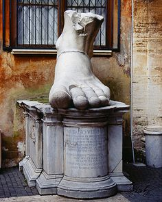 Foot of the Emperor Constantine at the Capitoline Museum by semlenb
