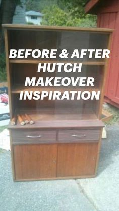 Furniture Fix, Refurbished Furniture, Repurposed Furniture, Furniture Projects, Furniture Makeover, Diy Projects, Diy Home Crafts, Diy Home Decor, Hutch Makeover