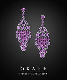 Graff Diamonds: Briolette Earrings Graff's Pink Sapphire 'Briolette' earrings contain an astonishing 56.87cts of sapphires and 3.33cts of diamonds.