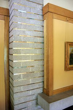 Horizontal Brick with Glass Strips on Mortar - Meyer May House - Grand Rapids, MI