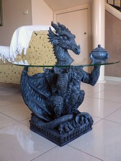 Dragon table ~ You can put your weed in there.