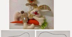 ARTESANATO COM QUIANE - Paps,Moldes,E.V.A,Feltro,Costuras,Fofuchas 3D: molde coelho e cenoura de feltro