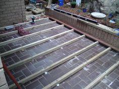 DIY decking over concrete