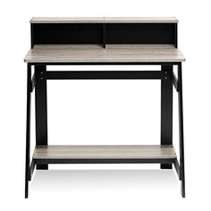 Furinno Simplistic series A-frame study desk is designed to fit your space, your style and your budget. This unit is made of CARB compliant composite wood and it has a simple industrial look. The structure is very sturdy and firm with the A-frame design. It has a built-in desk hutch to serve as... more details available at https://furniture.bestselleroutlets.com/home-office-furniture/home-office-desks/product-review-for-furinno-14054bk-gyw-simplistic-a-frame-computer-desk-bla